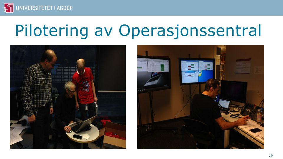 Pilotering av Operasjonssentral