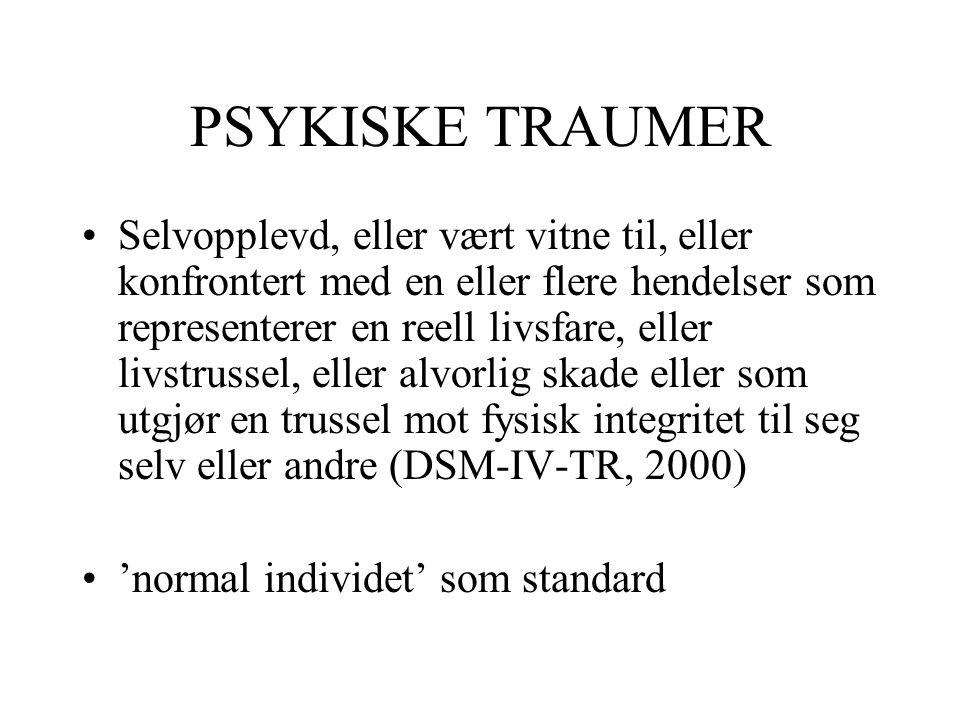 PSYKISKE TRAUMER