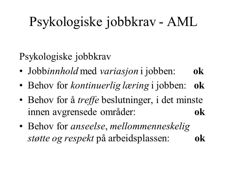 Psykologiske jobbkrav - AML