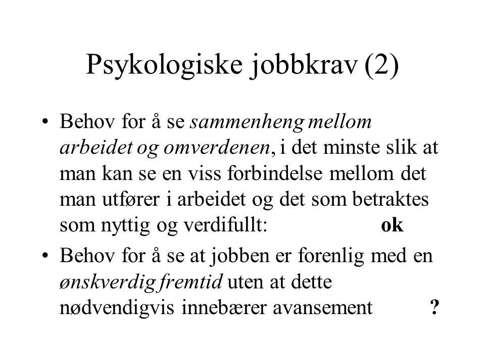 Psykologiske jobbkrav (2)