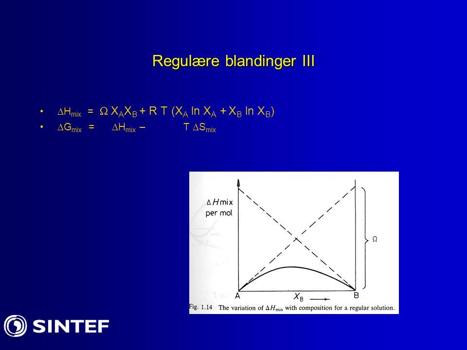 Regulære blandinger III