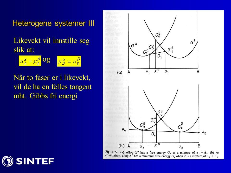 Heterogene systemer III