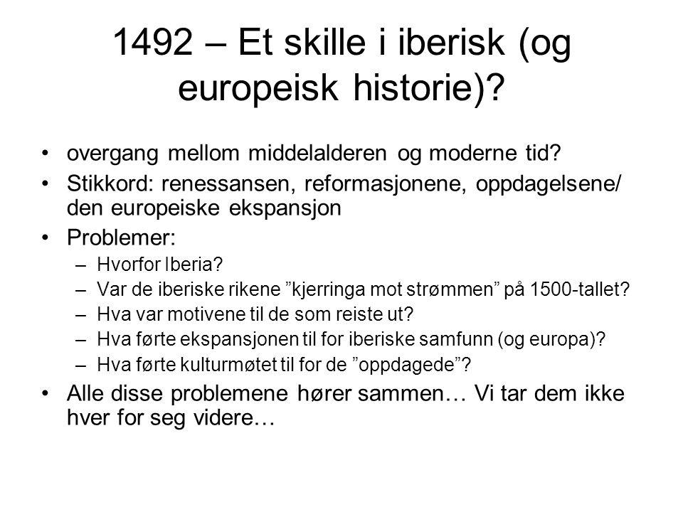 1492 – Et skille i iberisk (og europeisk historie)