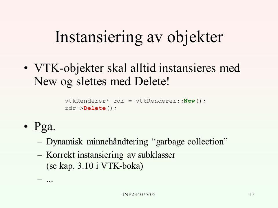 Instansiering av objekter