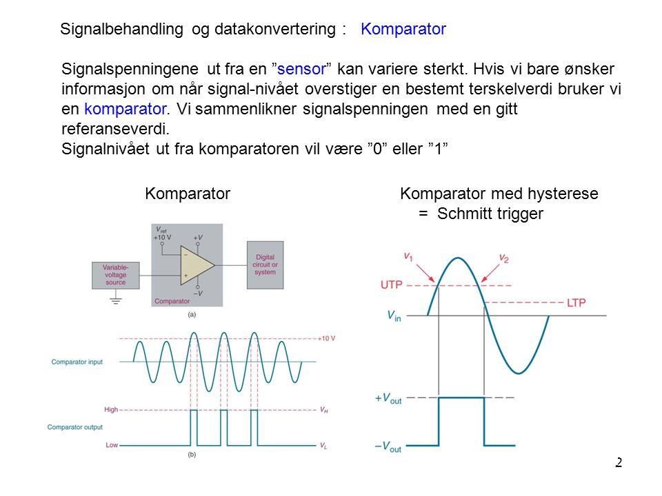 Signalbehandling og datakonvertering : Komparator
