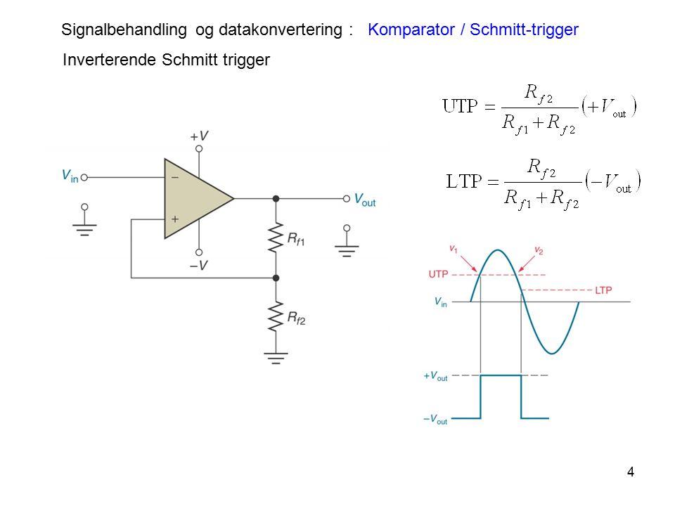 Signalbehandling og datakonvertering : Komparator / Schmitt-trigger
