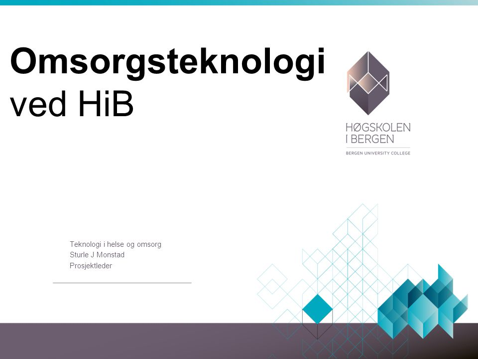 Omsorgsteknologi ved HiB