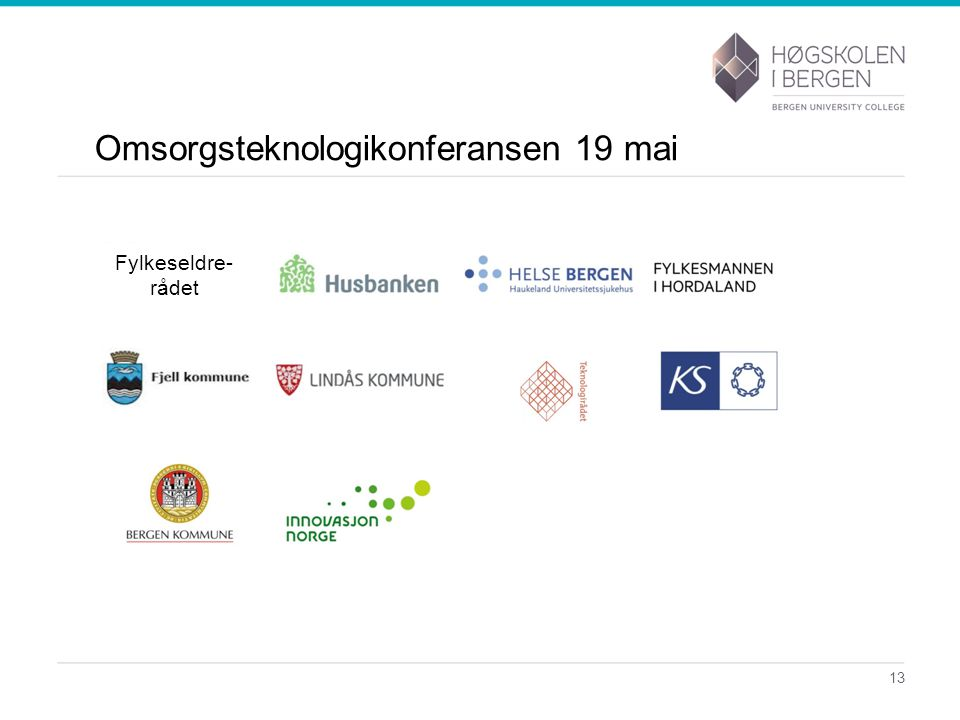 Omsorgsteknologikonferansen 19 mai