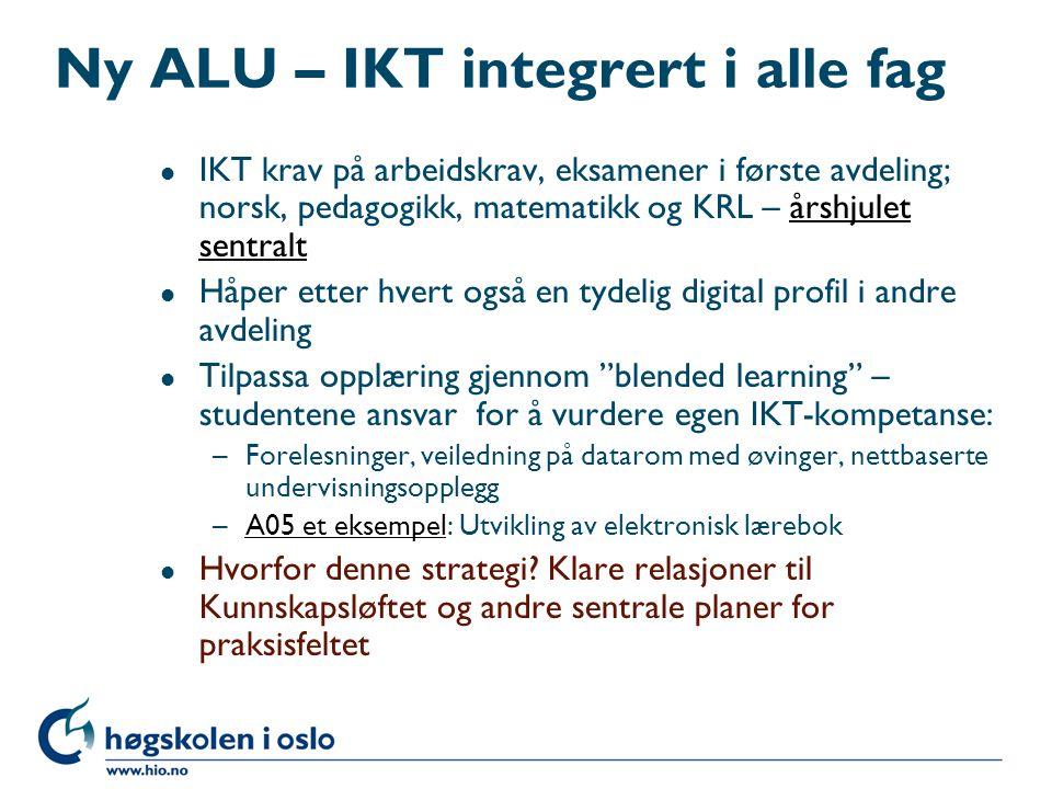 Ny ALU – IKT integrert i alle fag