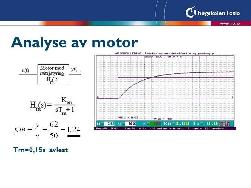 Analyse av motor Tm=0,15s avlest
