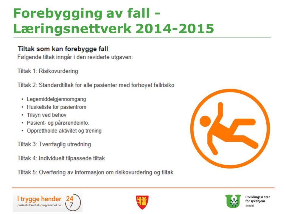 Forebygging av fall - Læringsnettverk 2014-2015