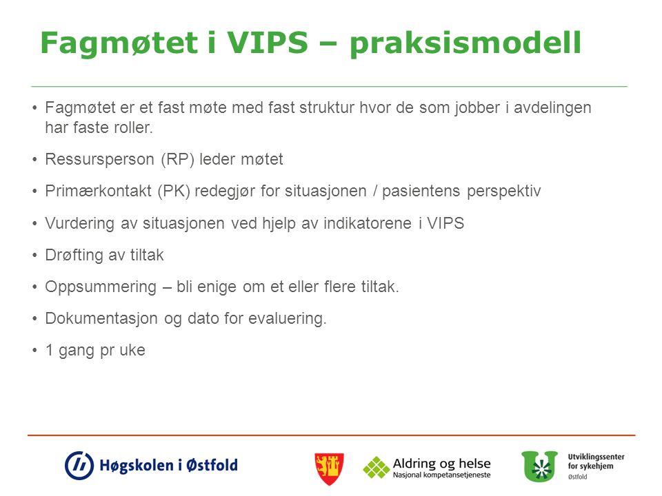 Fagmøtet i VIPS – praksismodell