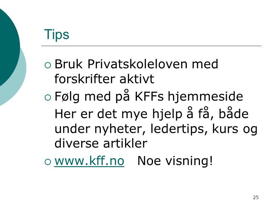 Tips Bruk Privatskoleloven med forskrifter aktivt