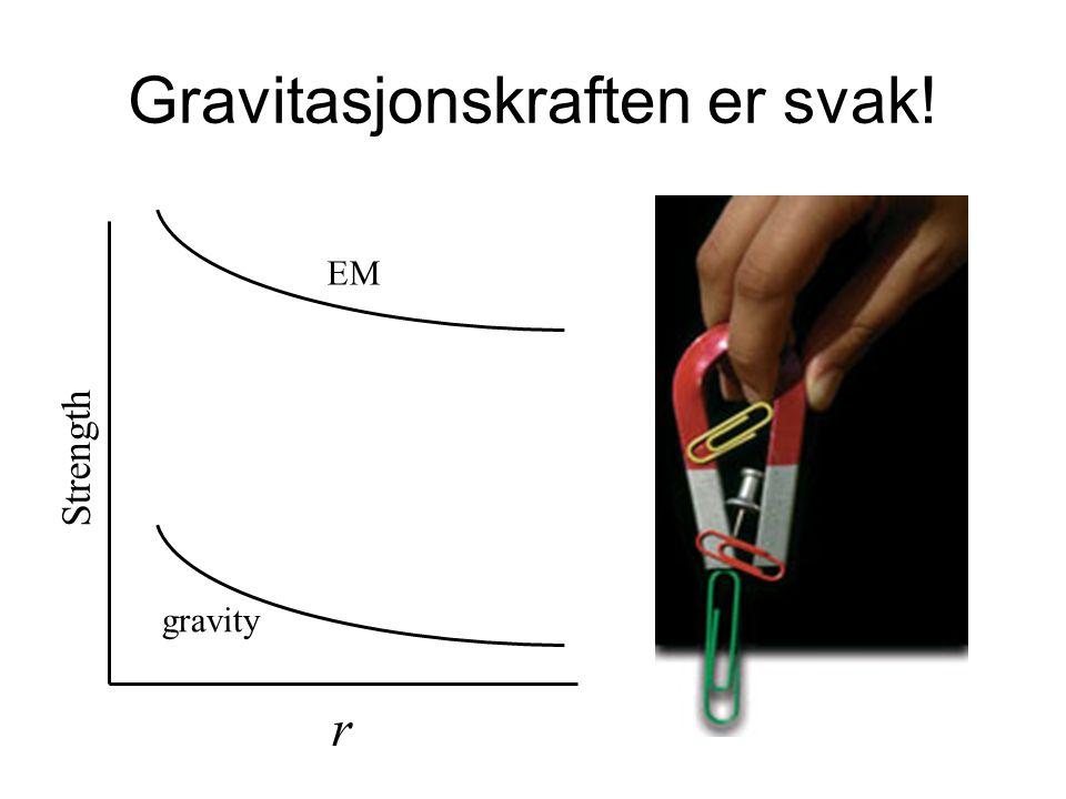 Gravitasjonskraften er svak!