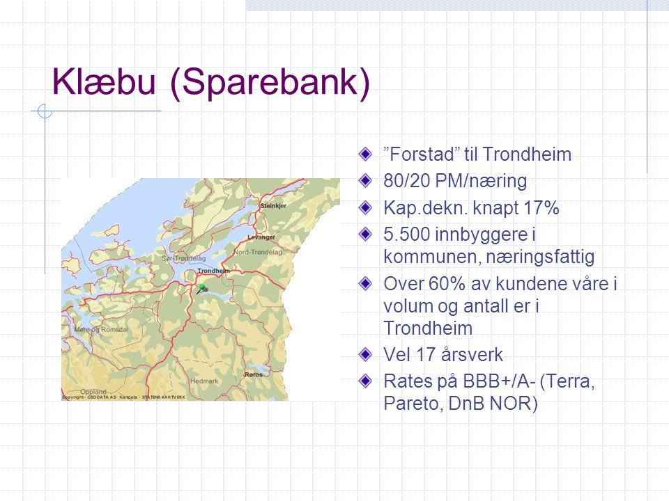 Klæbu (Sparebank) Forstad til Trondheim 80/20 PM/næring