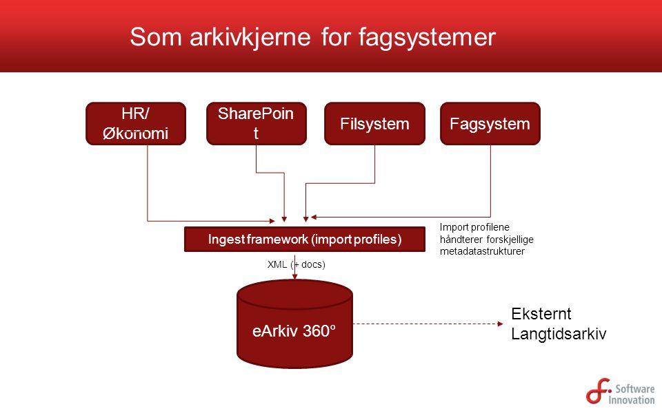 Som arkivkjerne for fagsystemer