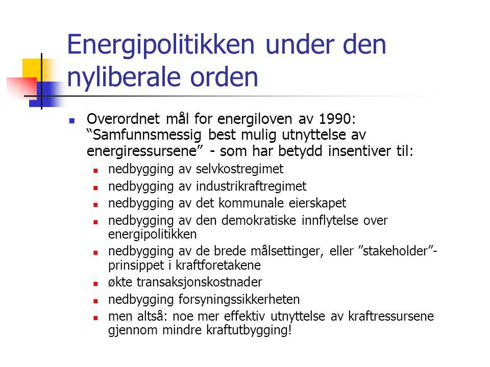 Energipolitikken under den nyliberale orden