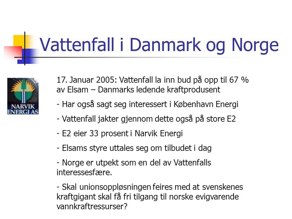 Vattenfall i Danmark og Norge