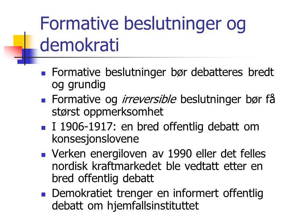 Formative beslutninger og demokrati