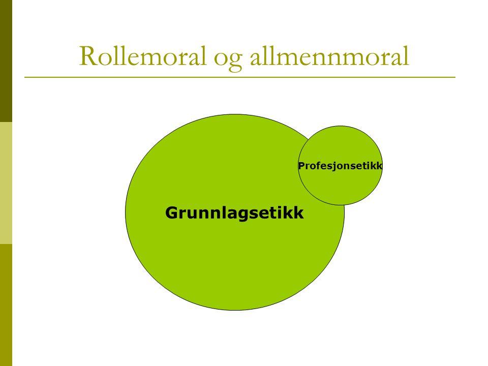 Rollemoral og allmennmoral