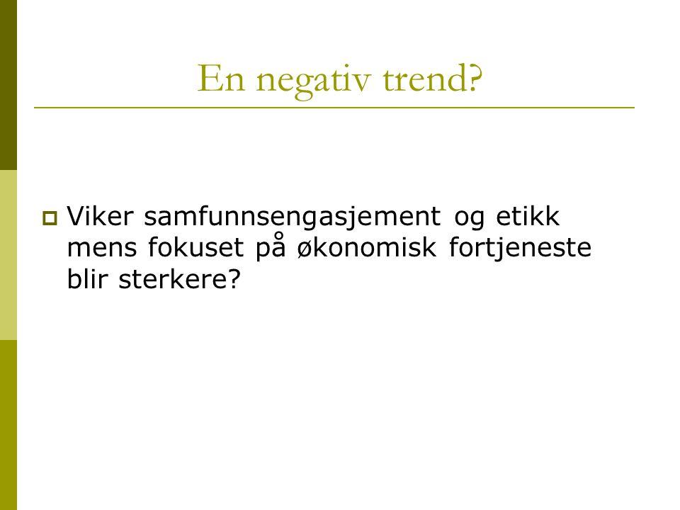 En negativ trend.