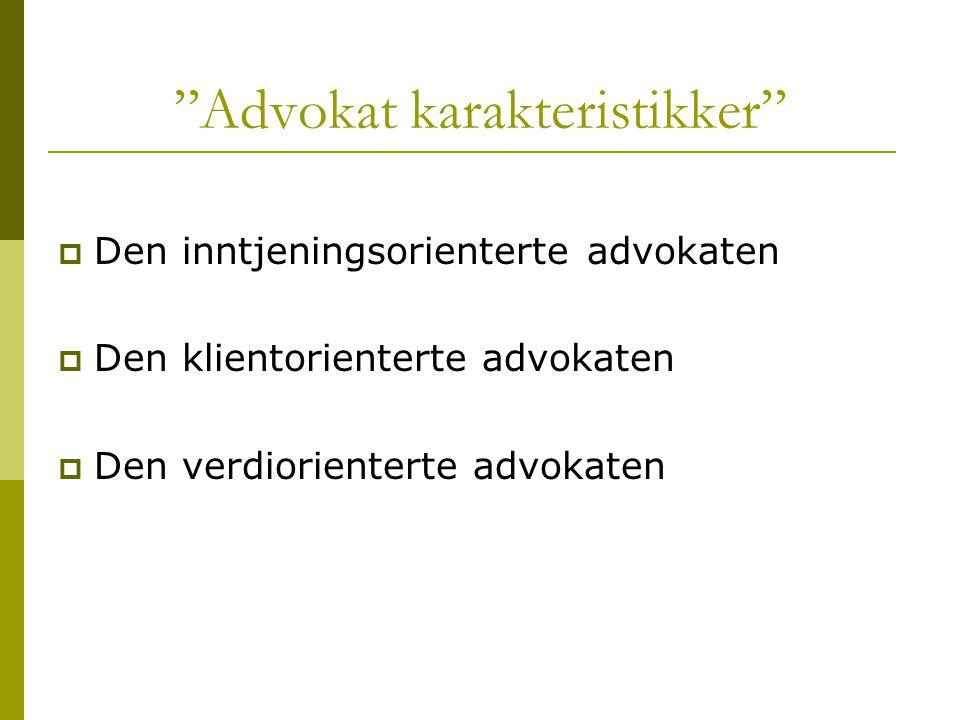 Advokat karakteristikker