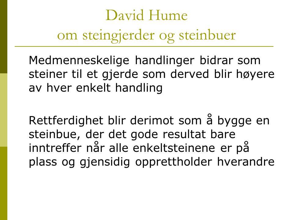 David Hume om steingjerder og steinbuer