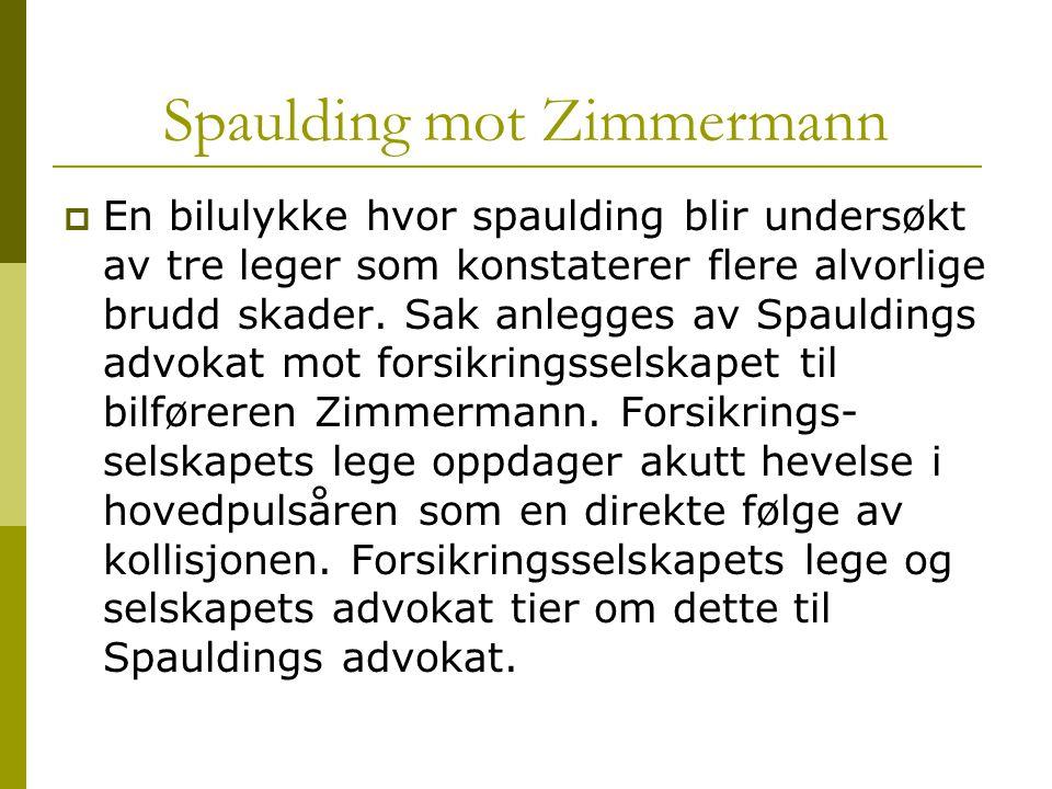 Spaulding mot Zimmermann