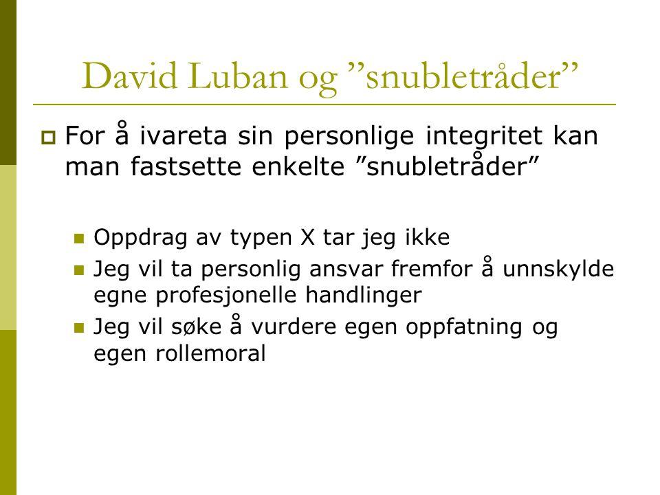 David Luban og snubletråder