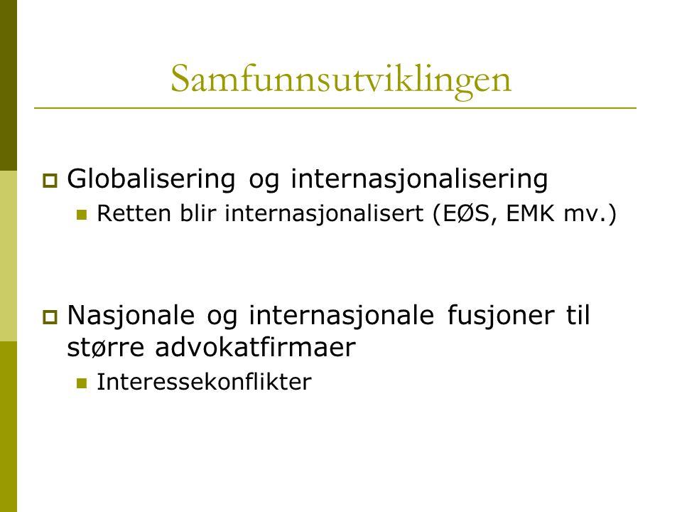 Samfunnsutviklingen Globalisering og internasjonalisering