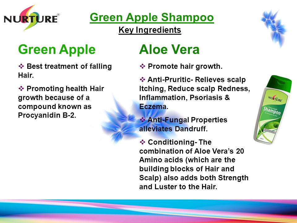 Green Apple Aloe Vera Green Apple Shampoo Key Ingredients