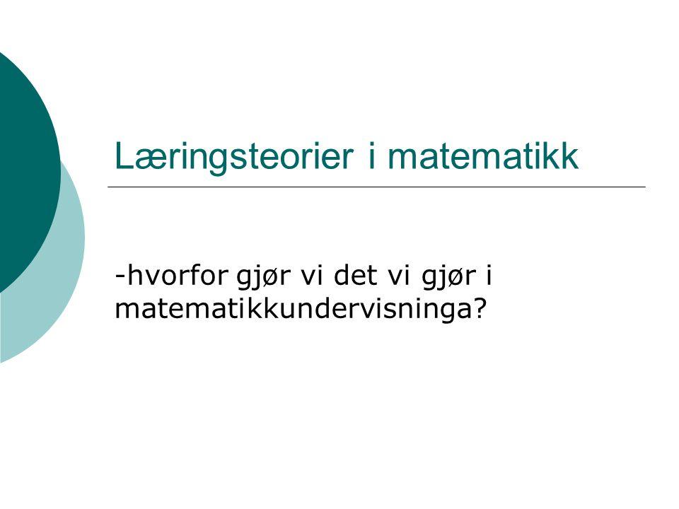 Læringsteorier i matematikk