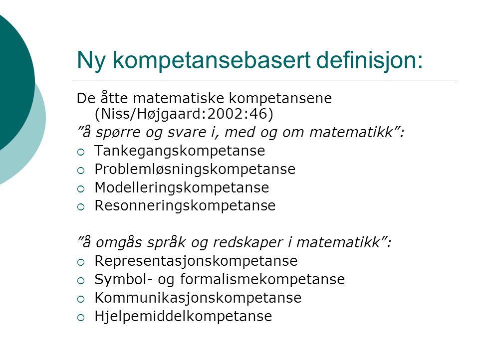 Ny kompetansebasert definisjon: