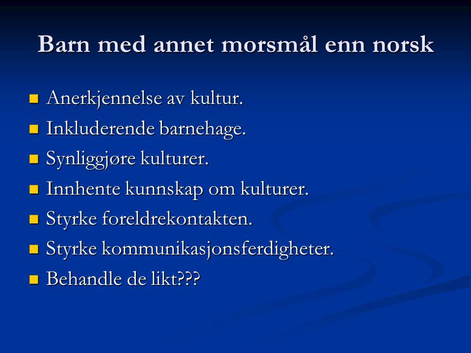 Barn med annet morsmål enn norsk