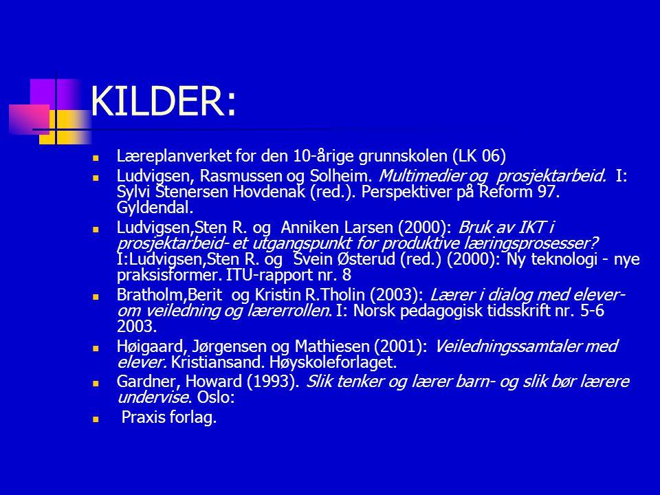 KILDER: Læreplanverket for den 10-årige grunnskolen (LK 06)