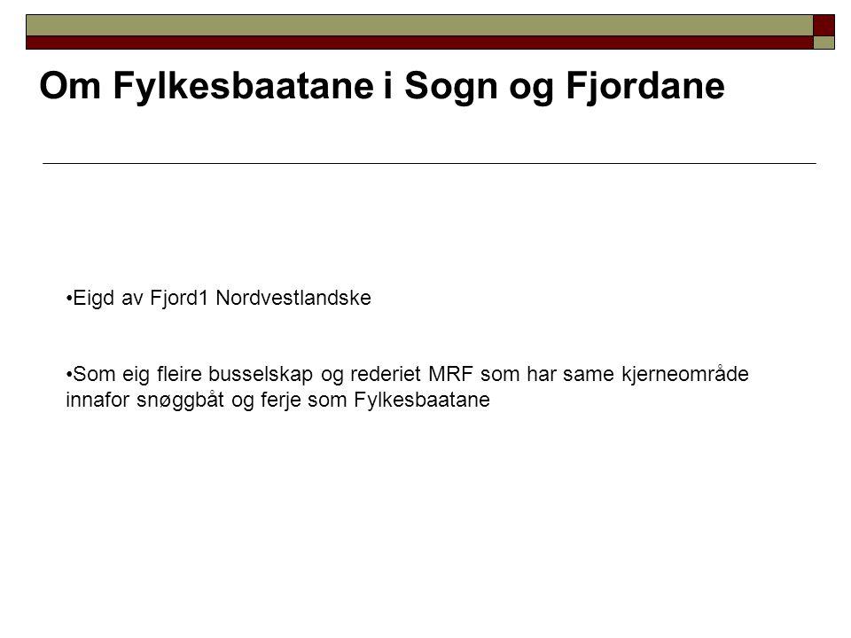 Om Fylkesbaatane i Sogn og Fjordane