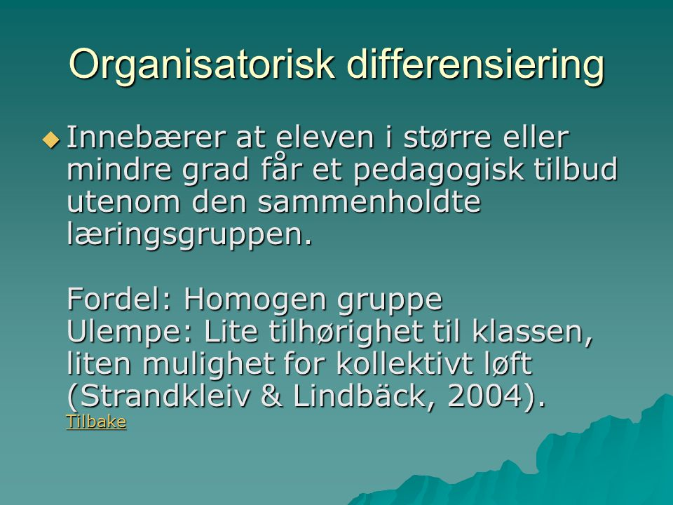Organisatorisk differensiering