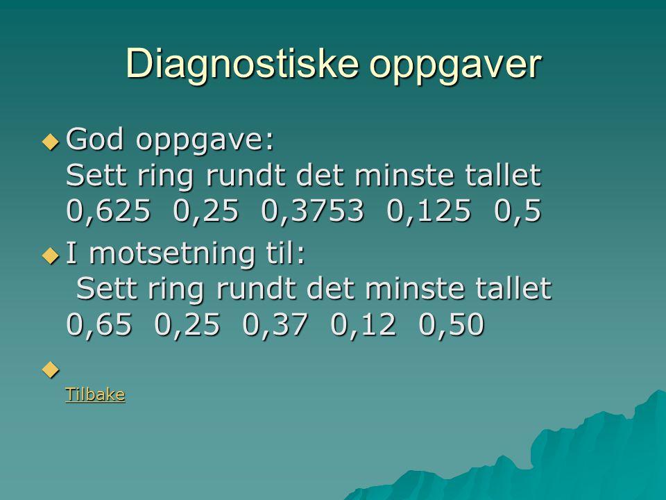 Diagnostiske oppgaver
