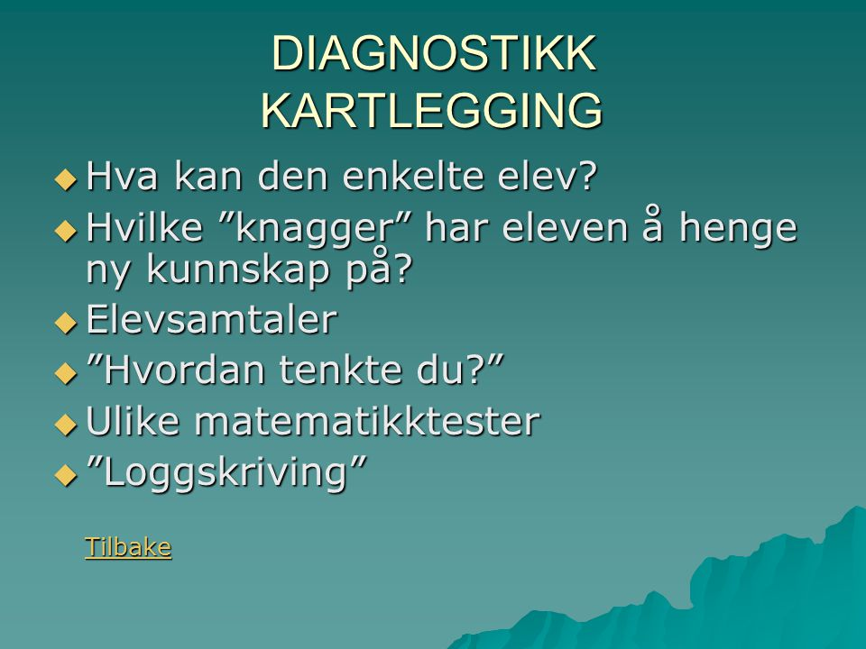 DIAGNOSTIKK KARTLEGGING