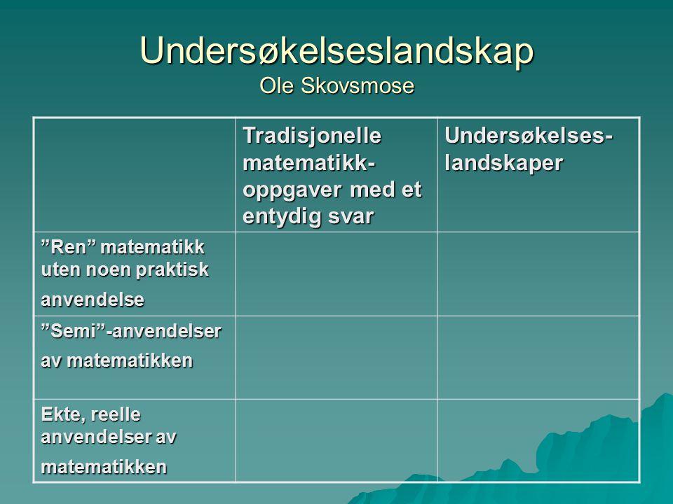 Undersøkelseslandskap Ole Skovsmose