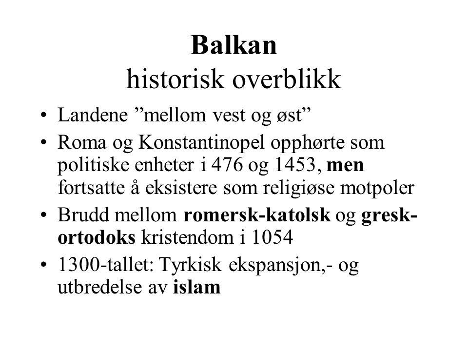 Balkan historisk overblikk