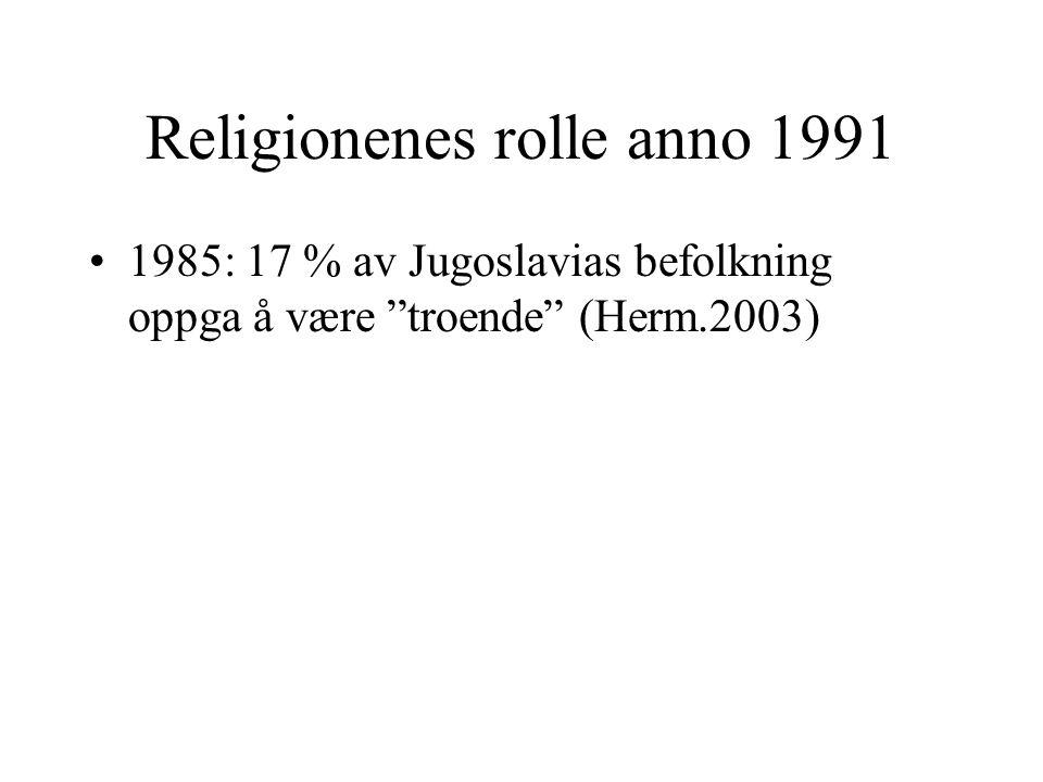 Religionenes rolle anno 1991