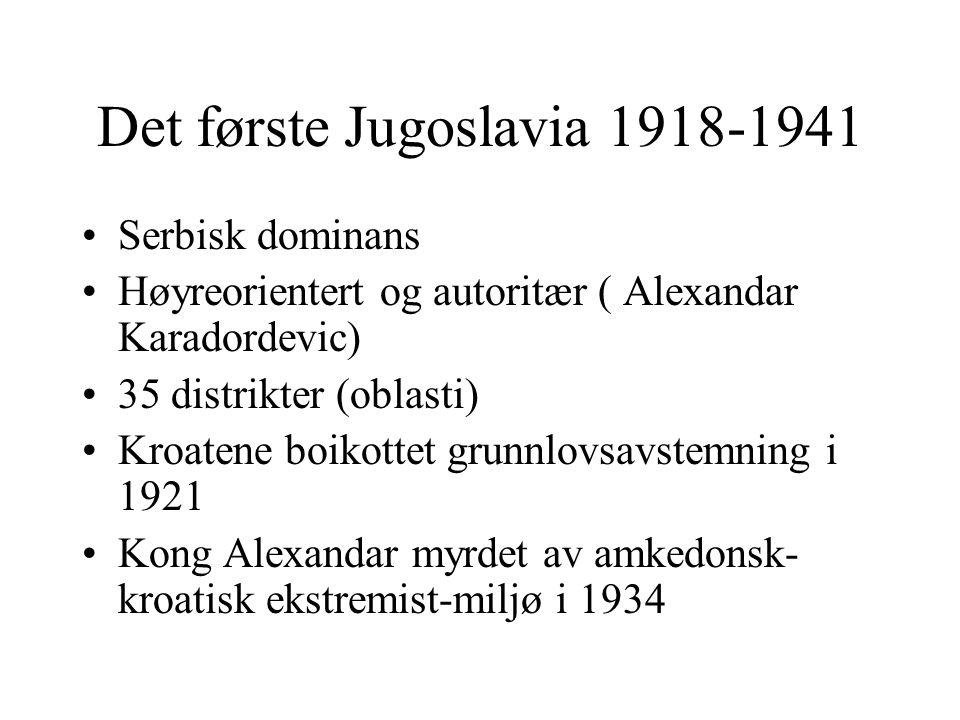 Det første Jugoslavia 1918-1941