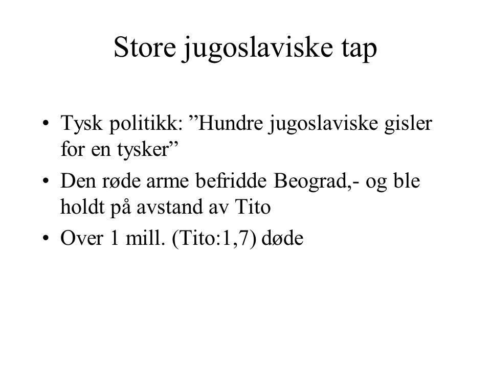 Store jugoslaviske tap