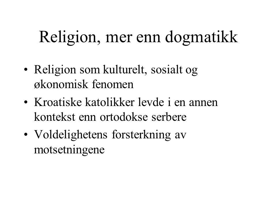 Religion, mer enn dogmatikk
