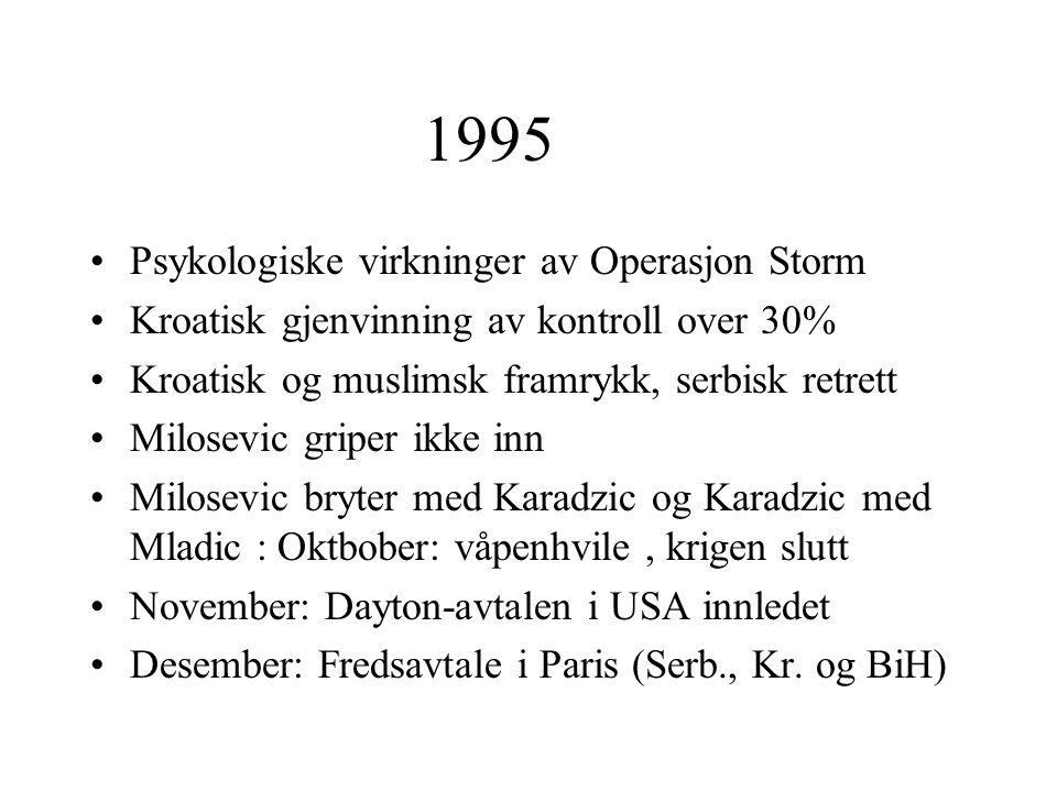 1995 Psykologiske virkninger av Operasjon Storm