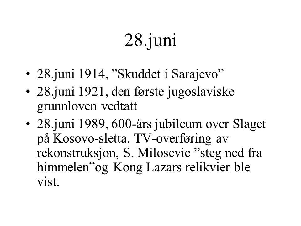 28.juni 28.juni 1914, Skuddet i Sarajevo