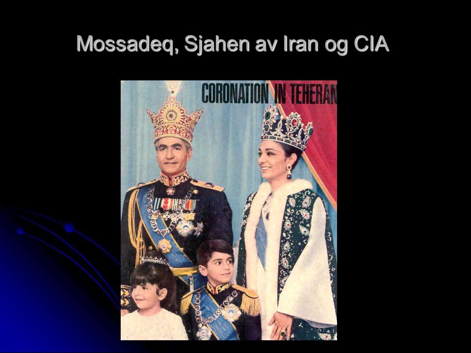 Mossadeq, Sjahen av Iran og CIA