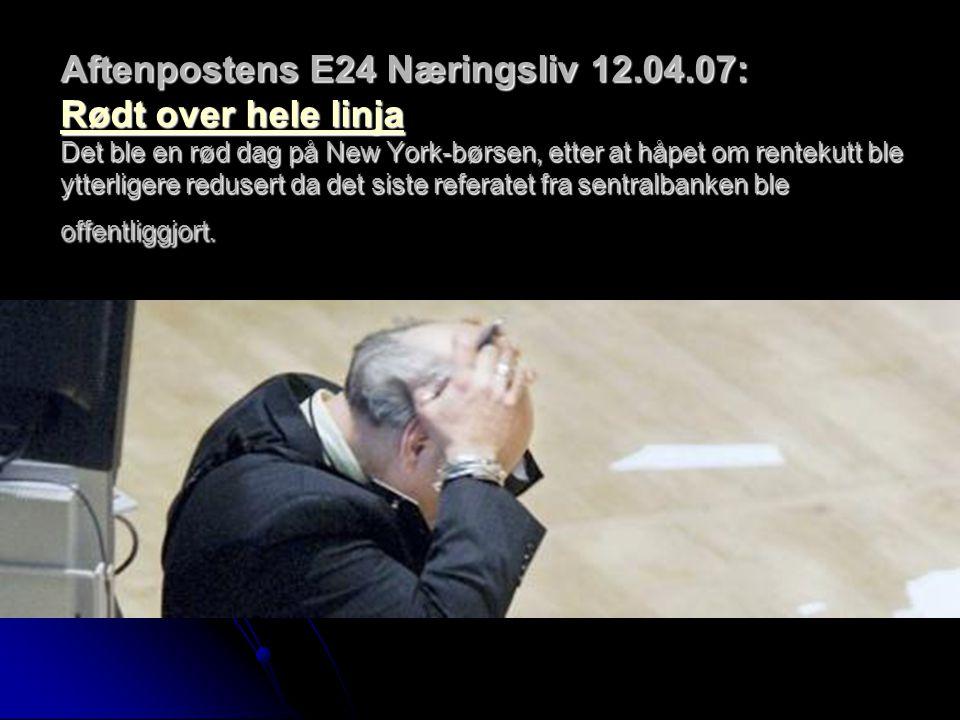 Aftenpostens E24 Næringsliv 12. 04