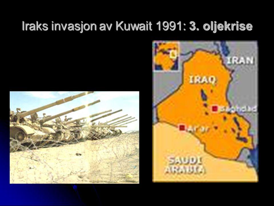 Iraks invasjon av Kuwait 1991: 3. oljekrise